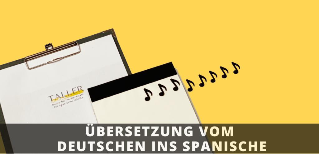Übersetzung vom Deutschen ins Spanische