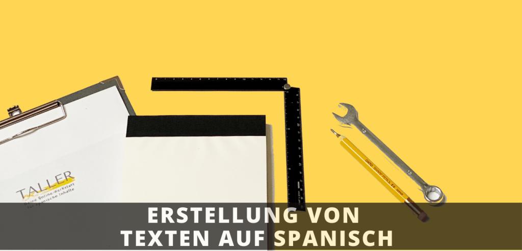 Schreiben von spanische Texte