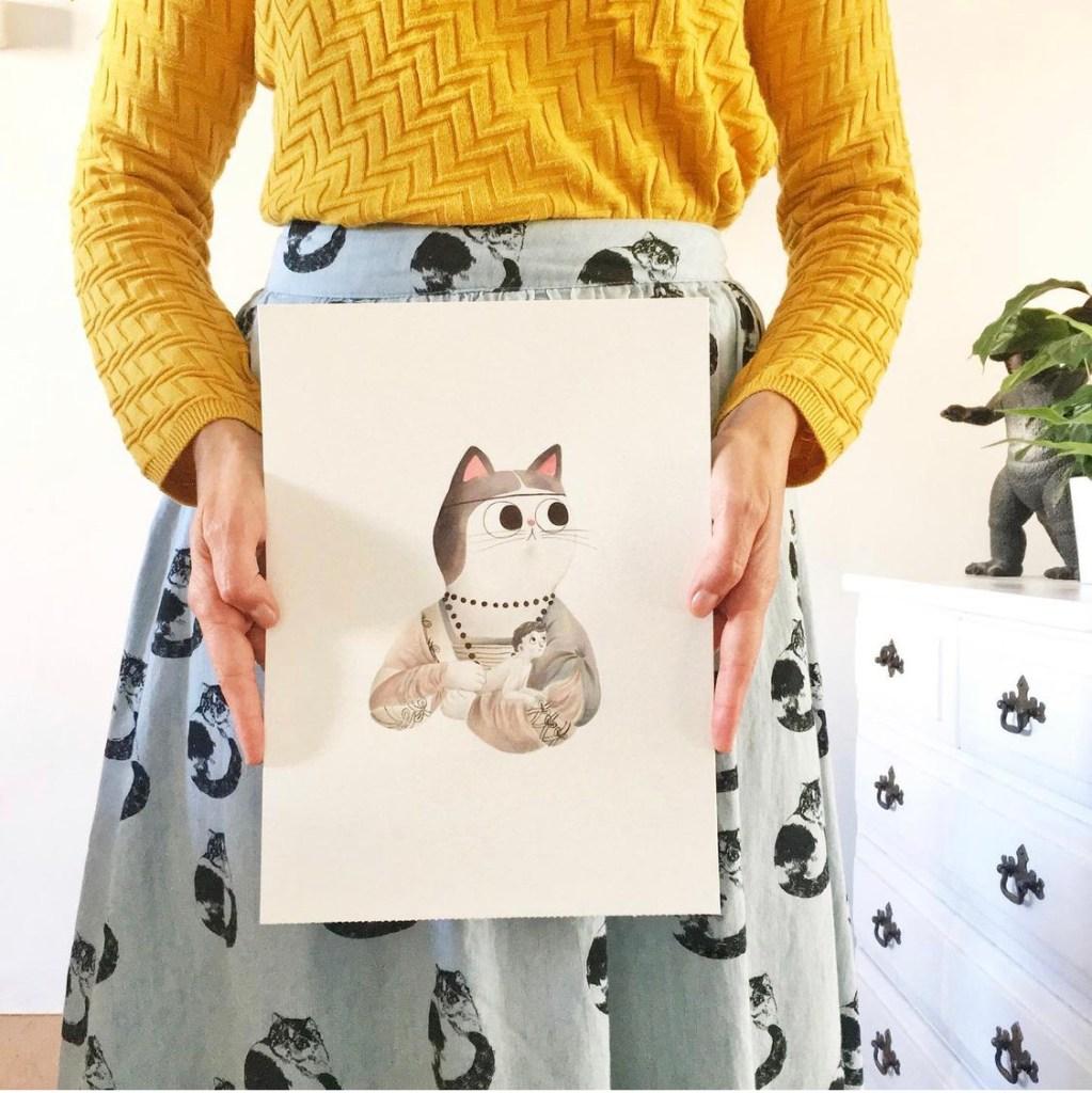 Mar Villar - Ilustración gatos y arte